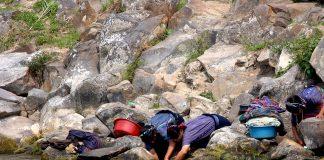Women washing clothes in Guatemala