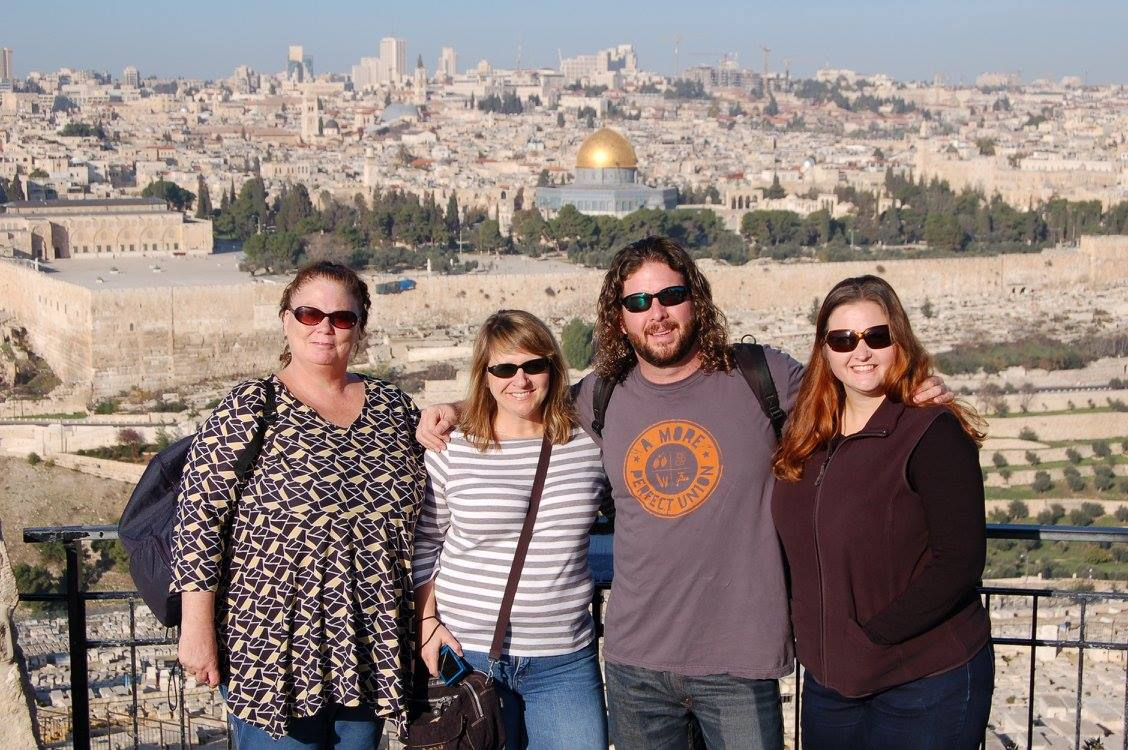 Cindy, Jenny, Jeremy, and Stephanie in Israel.