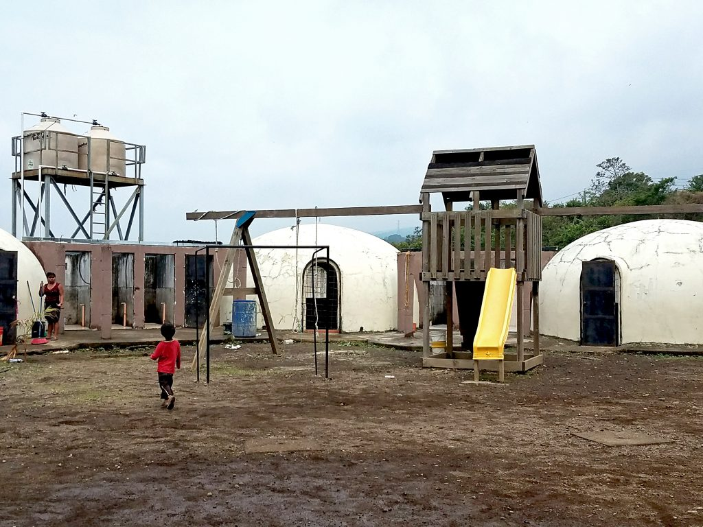 The playground & classrooms at a local school we visited.