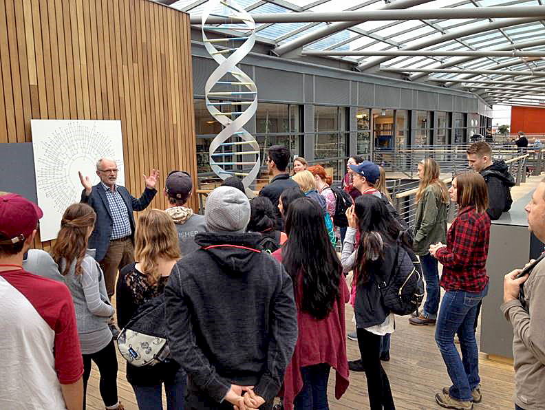 Augusta University students learning about the human genome.