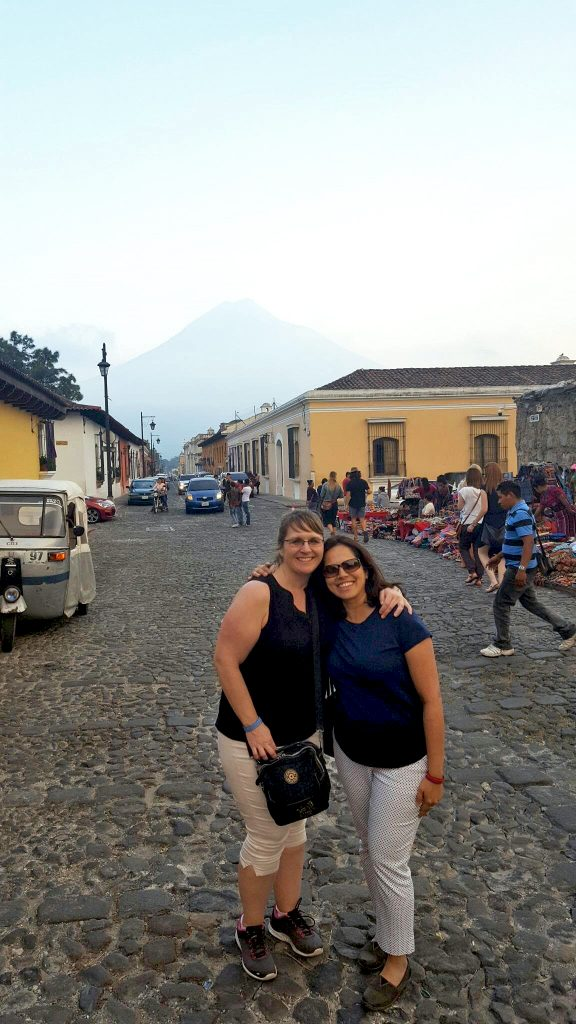 Devi (right) and I exploring the streets of Guatemala!