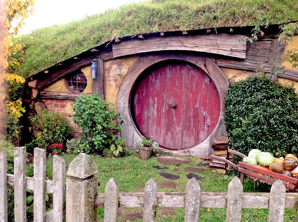 World-famous Hobbiton in Matamata, New Zealand.