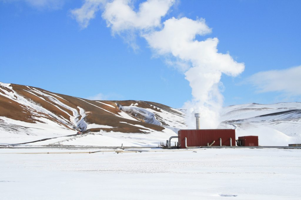 Geothermal powerplant in South Iceland.