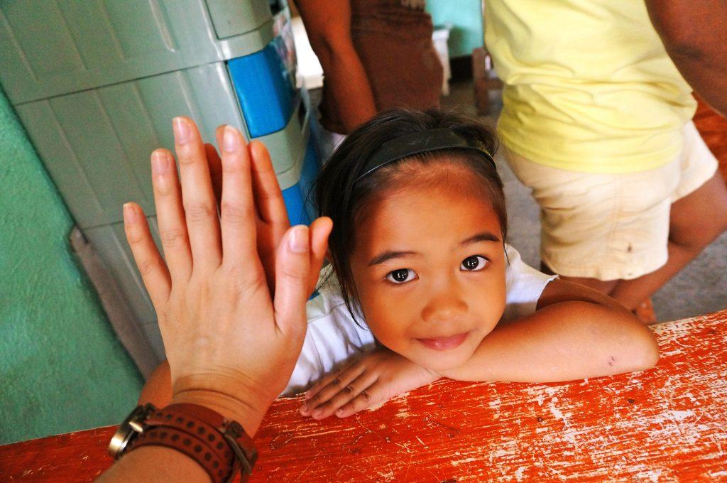 Volunteer serving in the Philippines.