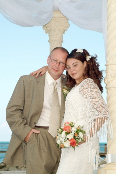Tish and Dale tying the knot in 2004.