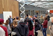 Augusta University students learning about genetics in Iceland