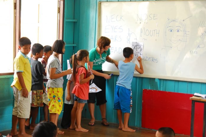 Volunteer teaching in Vietnam