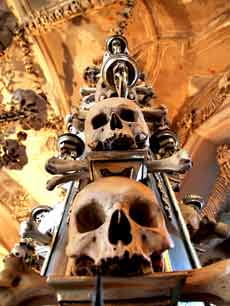 Czech Kutna Hora Sedlec The Sedlec Ossuary Beneath the Cemetery Church of All Saints