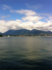 Vancouver, Canada - View of the Mountains