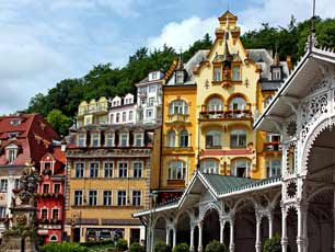 Czech Karlovy Vary (Karlsbad) World famous for its mineral springs