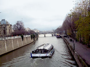 Paris, France - River Boat on the Seine