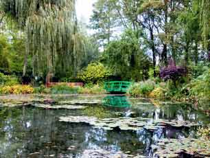 France Giverny Claude Monet's garden and pond