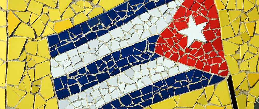 Cuban flag mosaic