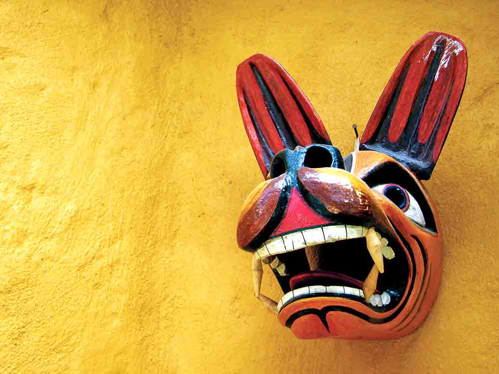 Mask in Ecuador as an example of studying arts by indigenous people around the world.