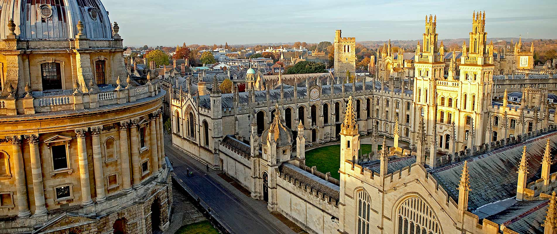 Oxford University, the former home of the annual Oxford Literary Festival in England.