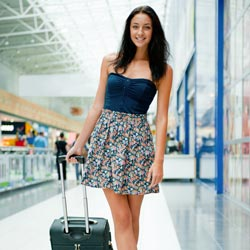 Student in the airport