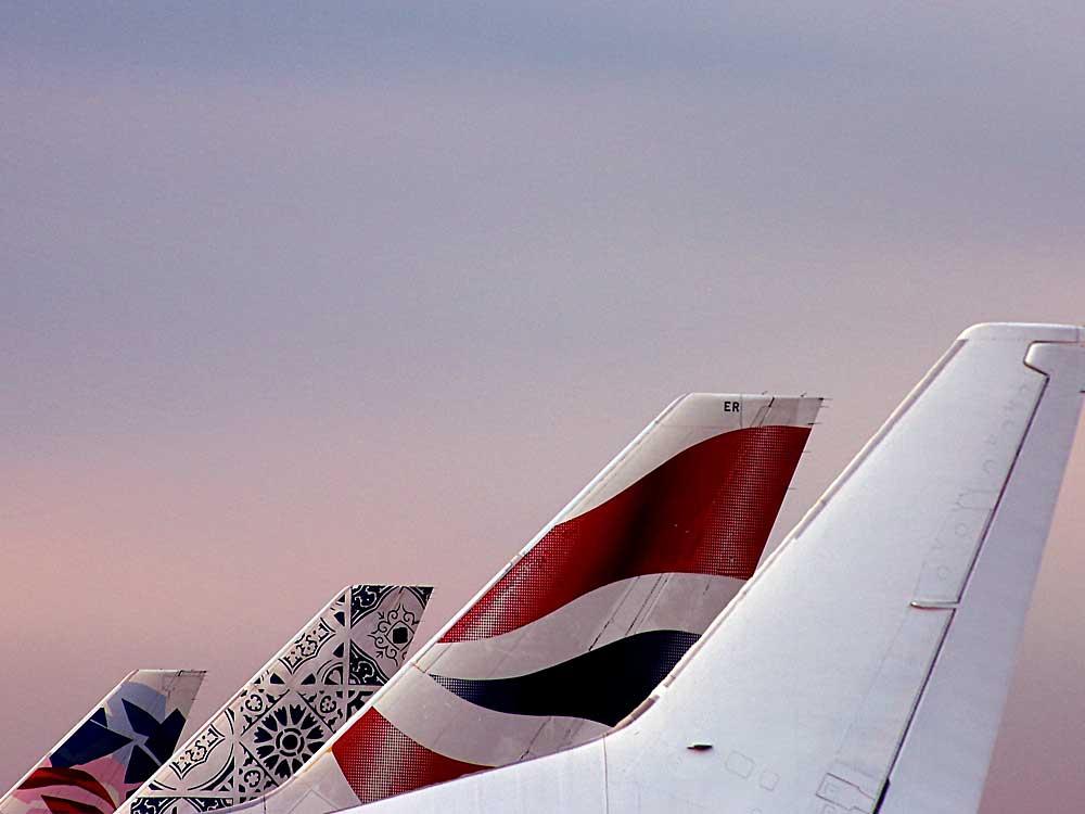 Flights - International plane tails