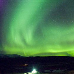 Study the Northern Lights, created by the Earth's magnetic field and solar winds, during a faculty-led trip to Iceland.
